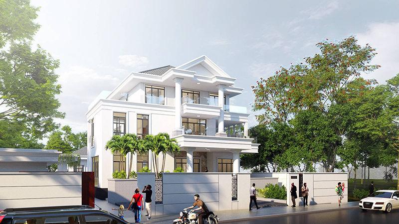 Thiết kế kiến trúc Biệt thự cô Hạnh (Quận 9)
