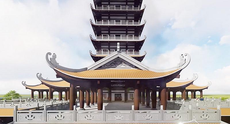 Thiết kế kiến trúc tháp Bồ Tát Thích Quảng Đức